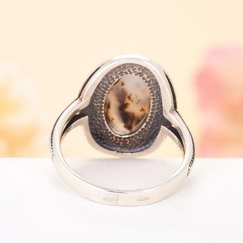 [del] Кольцо агат моховой Казахстан (серебро 925 пр.)  размер 16