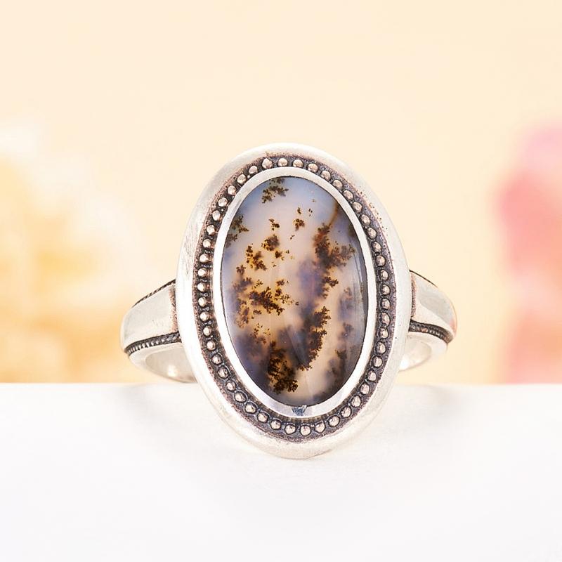 [del] Кольцо агат моховой Казахстан (серебро 925 пр.)  размер 17