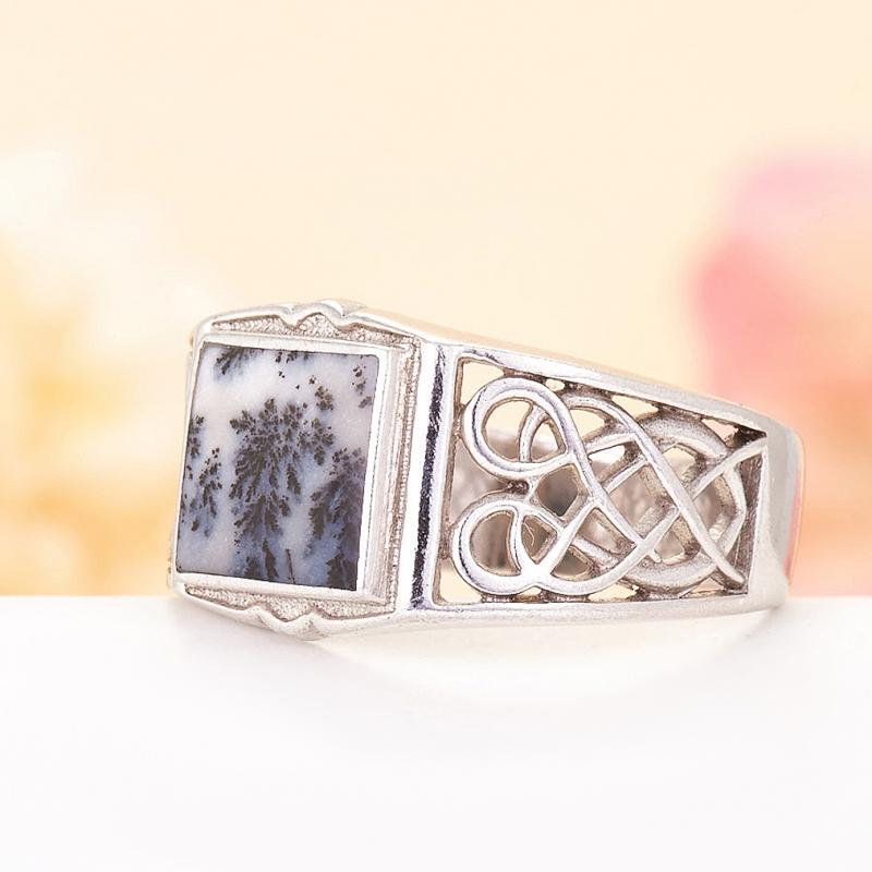 [del] Кольцо агат моховой Казахстан (серебро 925 пр.)  размер 18