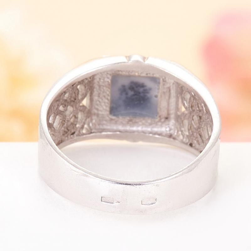 [del] Кольцо агат моховой Казахстан (серебро 925 пр.)  размер 23,5