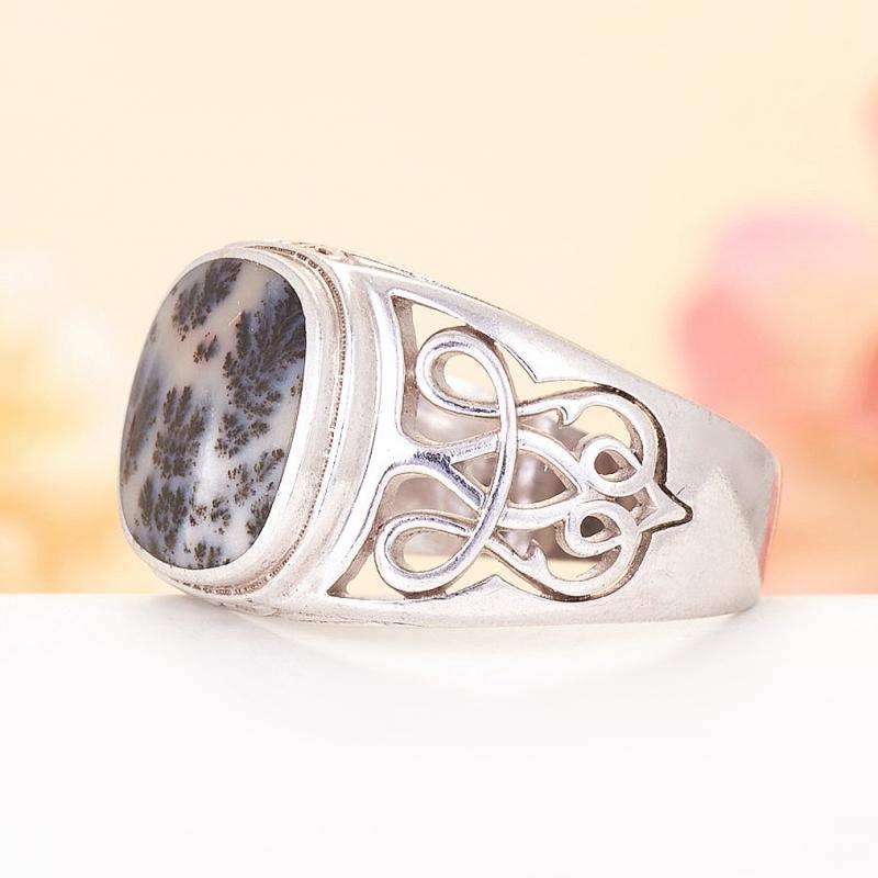 [del] Кольцо агат моховой Казахстан (серебро 925 пр.)  размер 19,5