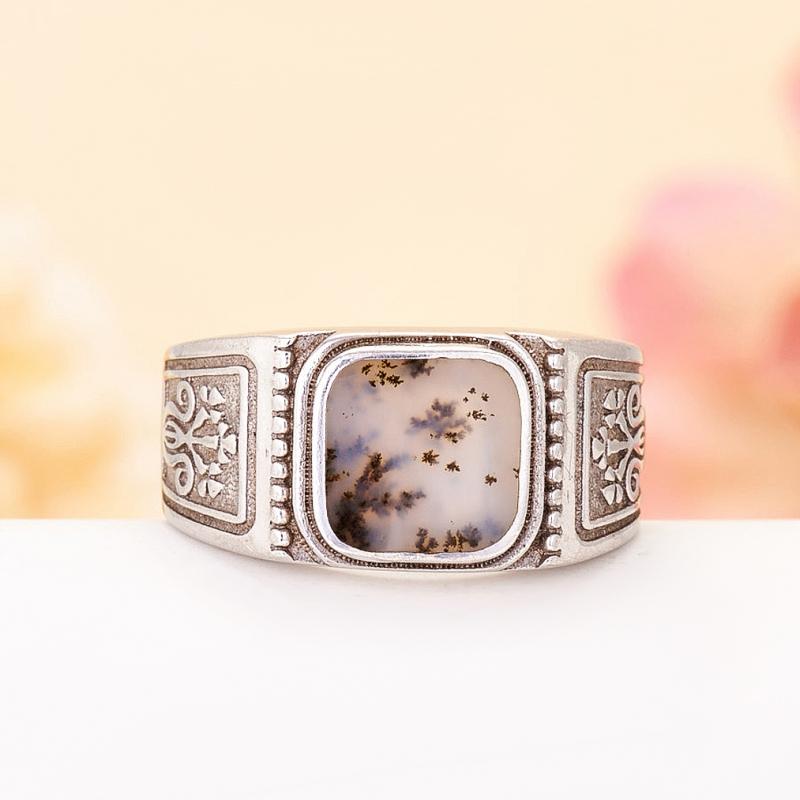 [del] Кольцо агат моховой Казахстан (серебро 925 пр.)  размер 19
