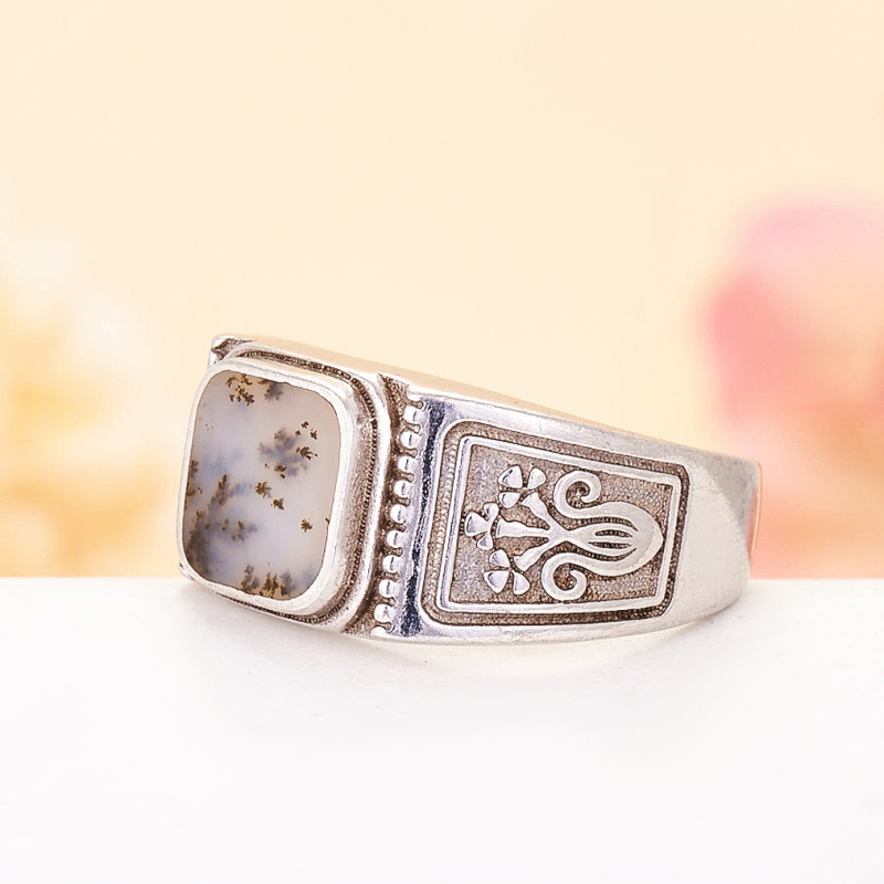 [del] Кольцо агат моховой Казахстан (серебро 925 пр.)  размер 20