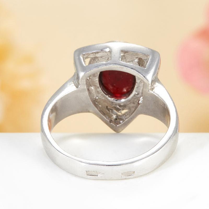 [del] Кольцо гранат Индия (серебро 925 пр.)  размер 17,5