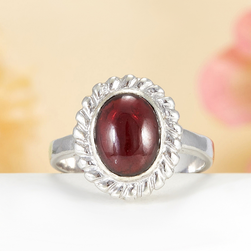 [del] Кольцо гранат Индия (серебро 925 пр.)  размер 20,5