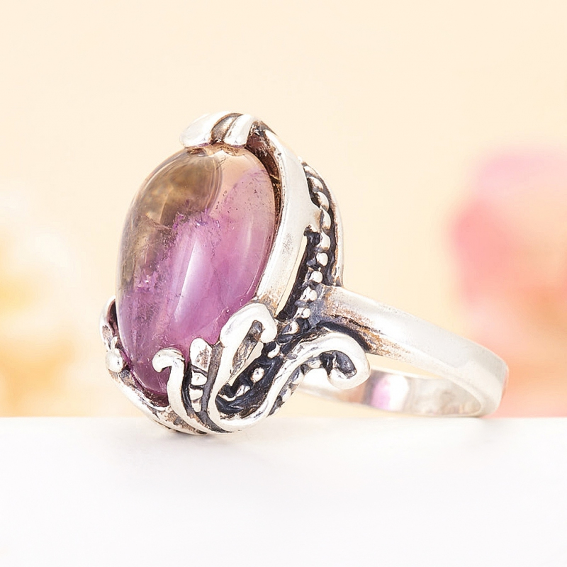 [del] Кольцо аметрин Бразилия (серебро 925 пр.)  размер 20
