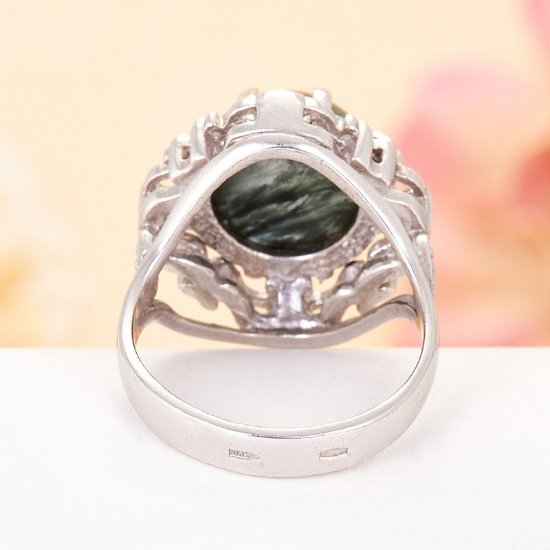 [del] Кольцо клинохлор (серафинит) Россия (серебро 925 пр.)  размер 20