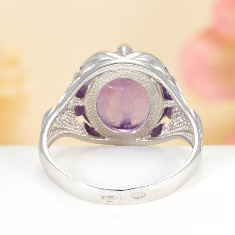 [del] Кольцо аметист Бразилия (серебро 925 пр.)  размер 16
