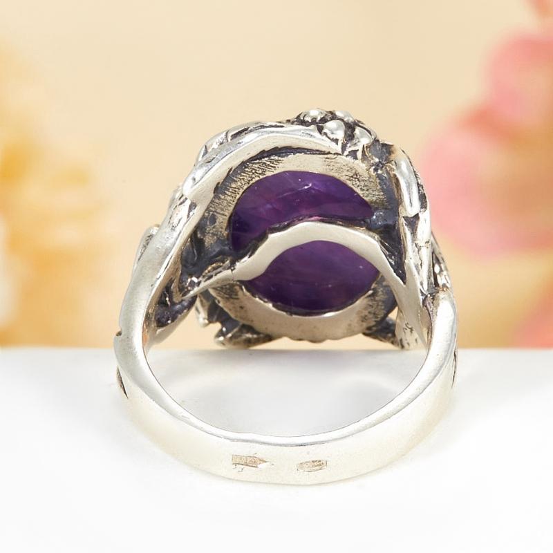 [del] Кольцо аметист Бразилия (серебро 925 пр.)  размер 18,5