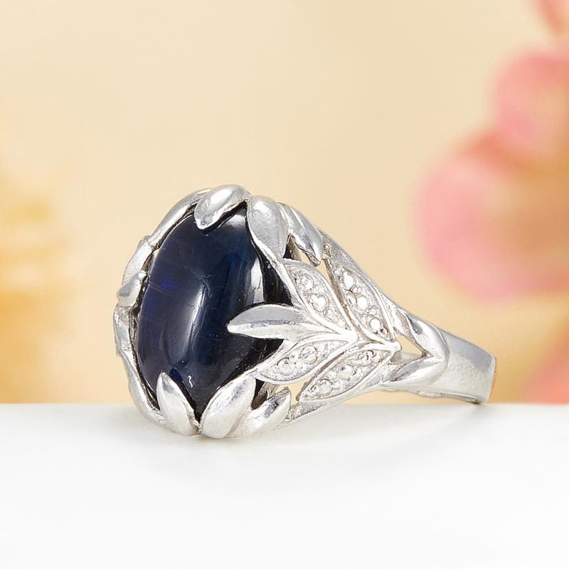 [del] Кольцо кианит синий Бразилия (серебро 925 пр.)  размер 16