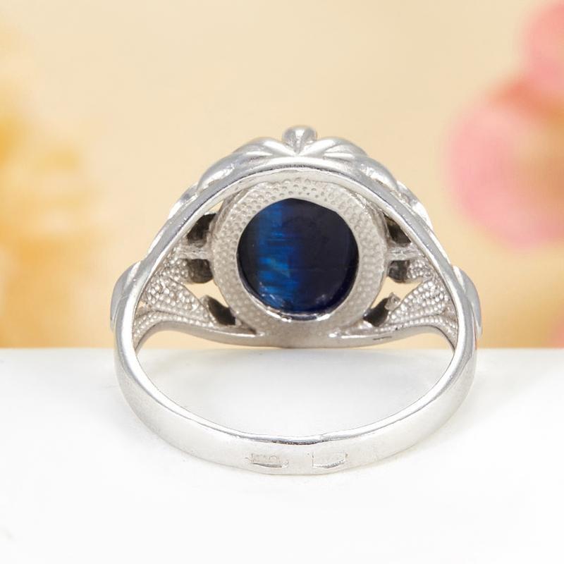 [del] Кольцо кианит синий Бразилия (серебро 925 пр.)  размер 21