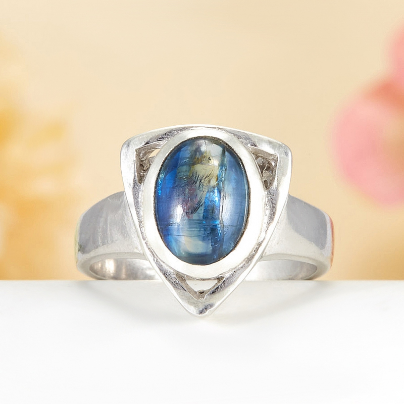 [del] Кольцо кианит синий Бразилия (серебро 925 пр.)  размер 16,5
