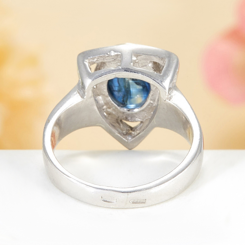 [del] Кольцо кианит синий Бразилия (серебро 925 пр.)  размер 18