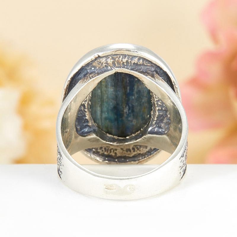 [del] Кольцо кианит синий Бразилия (серебро 925 пр.)  размер 19