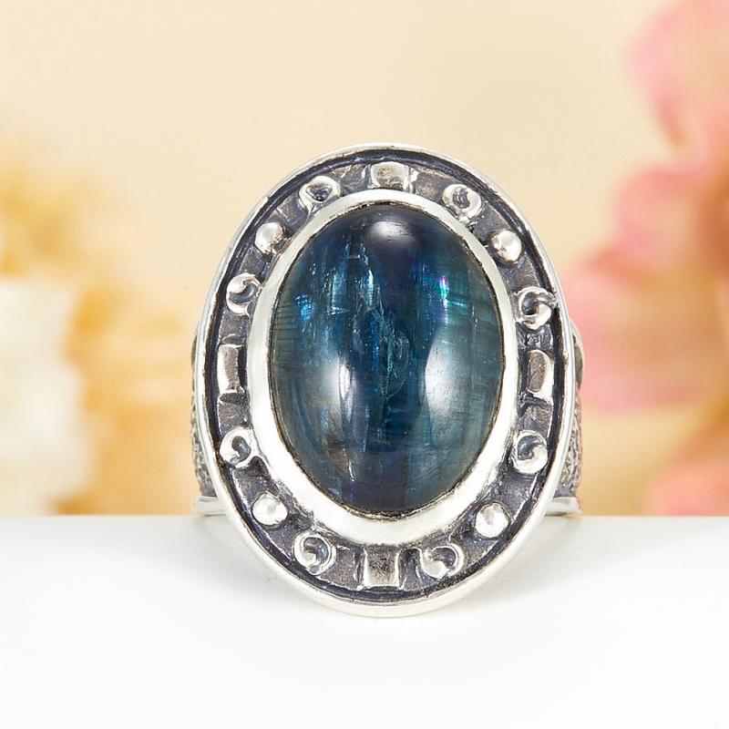 Кольцо кианит синий  (серебро 925 пр.)  размер 20,5