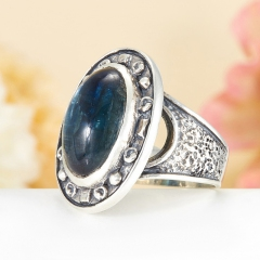 Кольцо кианит синий Бразилия (серебро 925 пр.)  размер 20,5