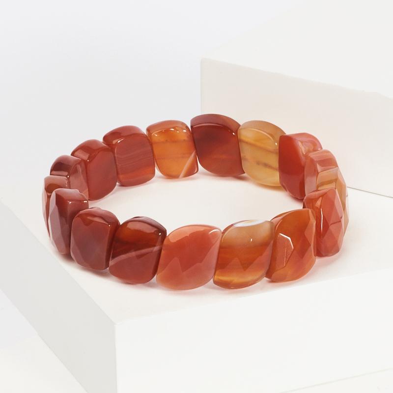 Браслет сердолик огранка 18 cм браслет янтарь 15 cм