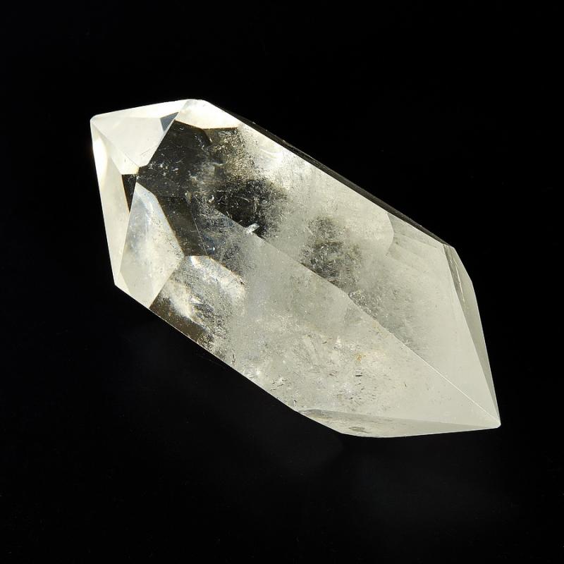Двухголовый кристалл горного хрусталя Бразилия (ограненный)