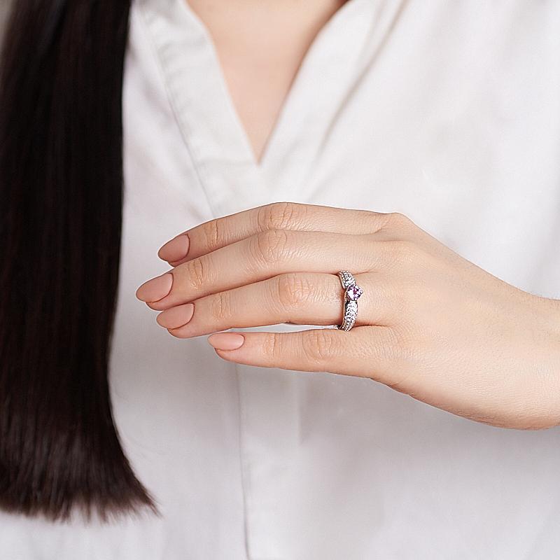 Кольцо аметист Бразилия огранка (серебро 925 пр.) размер 18