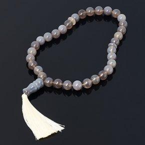 Четки агат серый Ботсвана 12 мм (33 бусины)