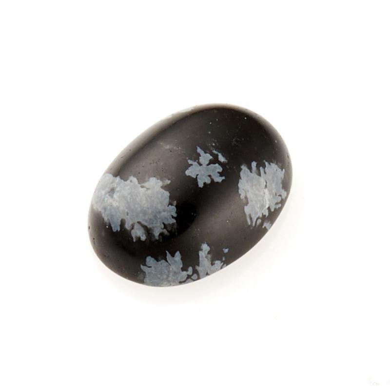 Кабошон обсидиан снежный 6*8 мм браслет обсидиан снежный 6 мм 16 cм