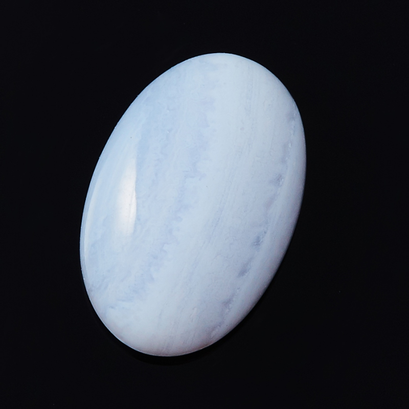 Кабошон агат голубой  8*12 мм